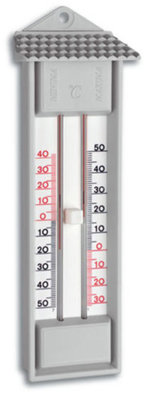 TFA Maxima Minima Grey analoge thermometer