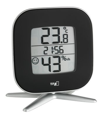 TFA Tivi black thermometer