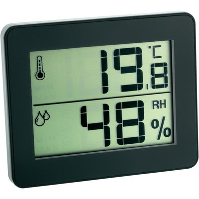 TFA Qboy black thermometer
