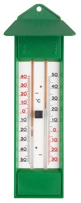 TFA Maxima Minima Green analoge thermometer