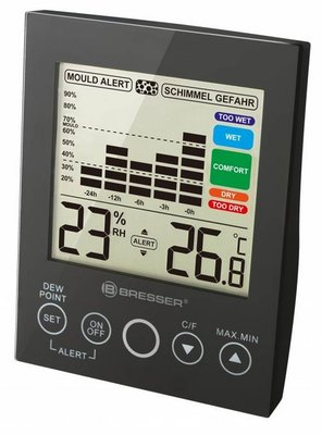 Bresser Ma Hygro zwart thermometer