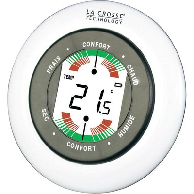 La Crosse WT138-W-BLII wit thermometer