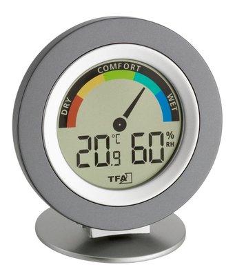 TFA Cosy silver thermometer