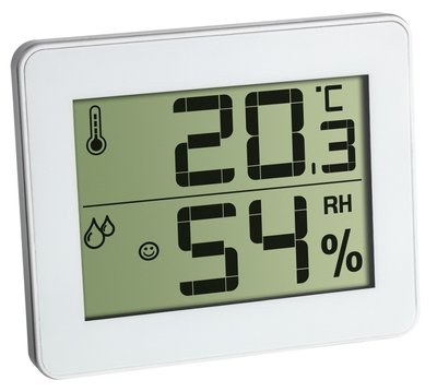 TFA Qboy white thermometer
